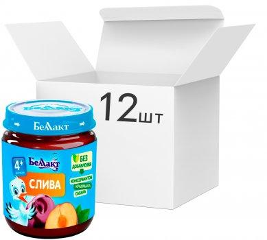 Упаковка фруктового пюре Беллакт зі слив 100 г х 12 шт (4814716000164_12)