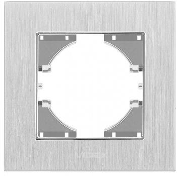 Рамка VIDEX Binera одинарна Сріблястий алюміній (VF-BNFRA1H-SL)