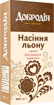 Упаковка насіння льону харчового Добродія 350 г х 3 шт (4820182202612)