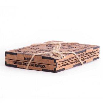 Камни для виски Whiskey stones USA Original Wood 9шт из стеатита + мешочек Сертифицированные