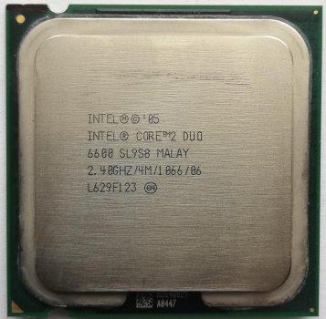 Процесор Intel Core 2 Duo E6600 2.40 GHz/4M/1066 (SL9S8) s775, tray