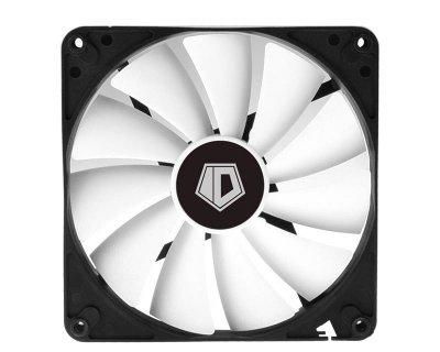 Вентилятор ID-Cooling WF-14025, 140х140х25мм, 4-pin PWM, чорний з білим
