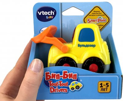 Розвивальна іграшка VTech Біп-Біп — Бульдозер зі звуковими ефектами (80-151826) (3417761518267)