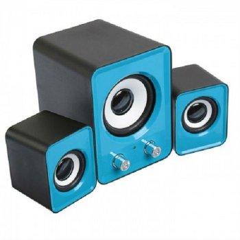 Колонки SPEAKER FT-202 для ноутбука и компьютера акустика 2.1 с сабвуфером Синие (OL-4176839)