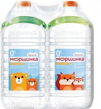 Упаковка мінеральної питної негазованої дитячої води Моршинка 6 л х 2 шт (4820017001649)