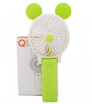 Ручний вентилятор міні на акумуляторі - Портативний вентилятор від USB або від батарейки (504754)