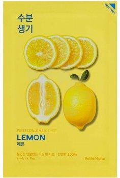 Осветляющая тканевая маска Лимон Holika Holika Pure Essence Mask Sheet Lemon 20 мл (8806334368111)