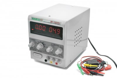 Блок живлення лабораторний цифровий/стрілочний Baku BK-1502D+, 15V, 2A RF індикатор