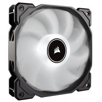 Вентилятор Corsair AF140 LED (2018) White (CO-9050085-WW), 140х140х25мм, 3-pin, чорний