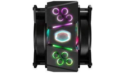 Кулер процесорний Cooler Master MasterAir MA410M (MAM-T4PN-218PC-R1), Intel:2066/2011-3/2011/1151/1150/1155/1156/1366, AMD:AM4/AM3+/AM3/AM2+/AM2/FM2+/FM2/FM1, 165.1x130.9x111.8, 4-pin