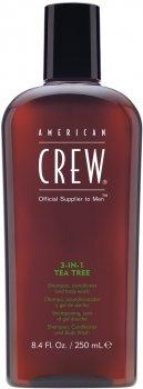 Средство по уходу за волосами и телом American Crew Classic 3-в-1 Чайное дерево 250 мл (669316223079)