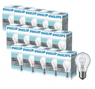 Лампа розжарювання Philips Standard E27 100W 230V A55 CL 1CT/12X10 (926000004012R) 15 шт.
