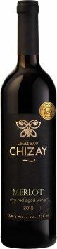 Вино Chizay Merlot червоне сухе витримане 0.75 л 13% (4820001632804)