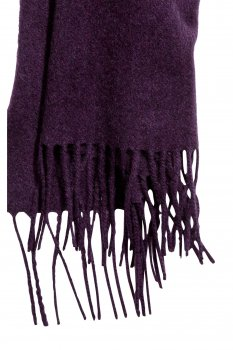 Шарф H&M 3010-3510986 50x180 Темно-фиолетовый (hm00771686090)