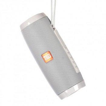 Переносна Bluetooth колонка T&G 157 Pulse Портативна з різнокольоровою підсвіткою, гучний зв'язок. Сіра