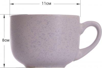 Кружка керамическая Fissman 450 мл Сиреневая (6085)
