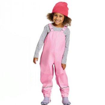 Дитячий напівкомбінезон-дощовик для дівчаток Lupilu Брудопруф без утеплювача Рожевий