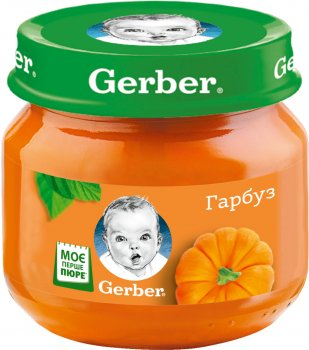 Упаковка пюре гомогенізованого овочевого Gerber Гарбуз для дітей з 6 місяців 80 г х 6 шт. (7613287348180)