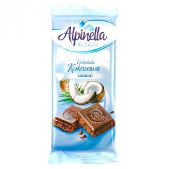 Шоколад Alpinella Молочный с кокосом 90г (00-00000028)