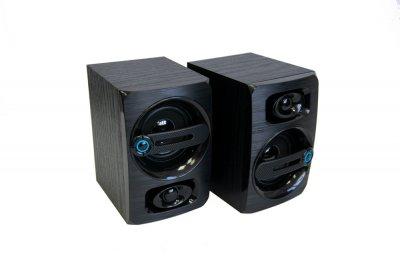 Комп'ютерні аудіо колонки FT-108AC чорні, акустика для ноутбука, комп'ютера - (колонки до компа) FM