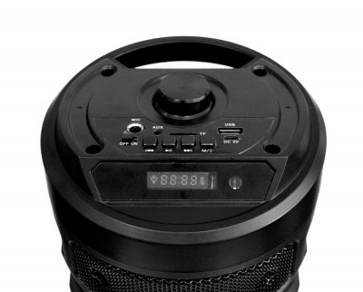 Большая блютуз колонка с подсветкой, BT Speaker ZQS-4209 черная, портативная музыкальная акустика