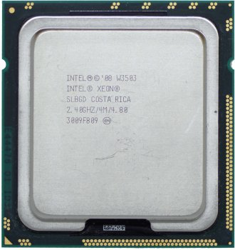 Процесор Intel Xeon W3503 2.4 GHz/4M/4,8 GT/s (SLBGD) s1366, tray