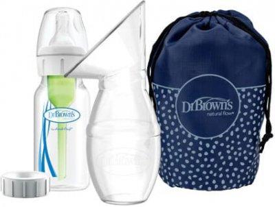 Молоковідсмоктувач Dr. Brown's ручний + пляшечка 120 мл (BF015-P3)