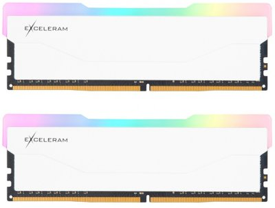 Оперативна пам'ять Exceleram DDR4-3600 32768 MB PC4-28800 (Kit of 2x16384) RGB X2 Series White (ERX2W432369CD)