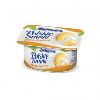 Йогурт Bakoma Польские Вкусы с персиком 120 г