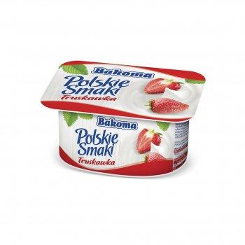 Йогурт Bakoma Польские Вкусы с клубникой 120 г