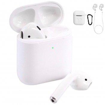 Бездротові сенсорні Bluetooth 5.0+EDR навушники VAR 500 TWS 2020 White with Charging Case з силіконовим чохлом і аксесуарами