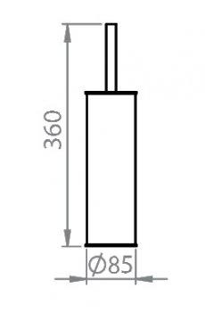 Щітка для унітазу підлогова чорний метал 831S