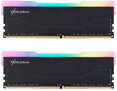 Оперативная память Exceleram DDR4-3200 32768MB PC4-25600 (Kit of 2x16384) RGB X2 Series Black (ERX2B432326CD)