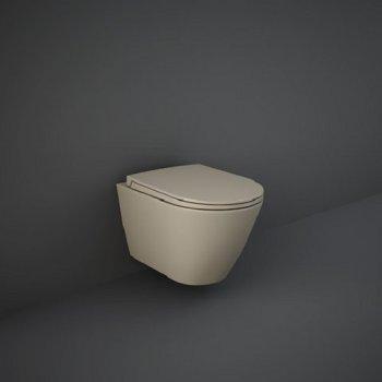 Унітаз підвісний RAK Ceramics Sanitaryware Rimless FEELING Matt Cappuccino RST23514A