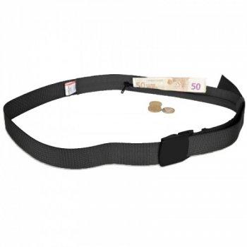 Ремень туристический с потайным карманом Adventodoor Travel Secret (130x4см) One Size черный полиэстер