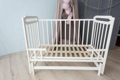 Кроватка-трансформер для детей от 0 до 5 лет Карина-2 Кузя белая 108.2