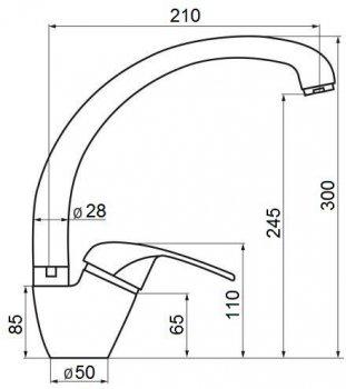 Кухонний змішувач GF (BLA)/S-03-012F