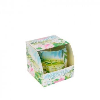 Свічка ароматизована Bartek S152-1 White tea 7х7 см
