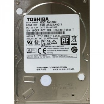 HDD SATA 200GB Toshiba 4200rpm 8MB (MQ01AAD020C)