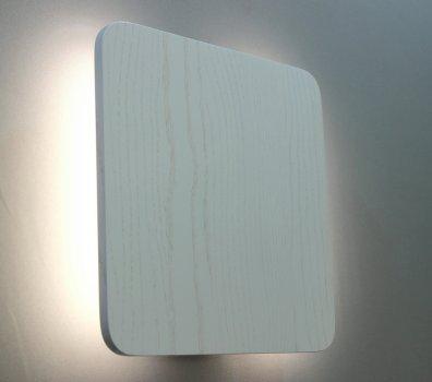 Дерев'яна яний бра-світильник Quadro-25 R25-WA ясний (білого кольору)