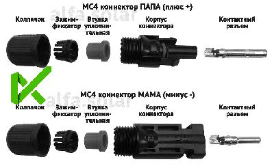 MC4 конектори JMTHY пара (мама+тато) 4/6 мм. кв., конектори для сонячних батарей, роз'яснюють об'єми для сонячних батарей