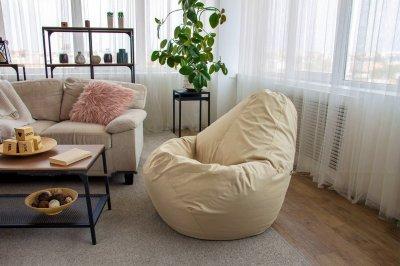 Безкаркасне крісло мішок груша 90 х 65 см (96849416-Т) Бежевий