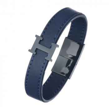 Кожаный браслет Гидромен DiaDemaGrand Синий с черным (051862-17-19)