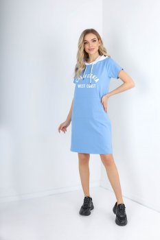 Платье Demma 808 Голубое