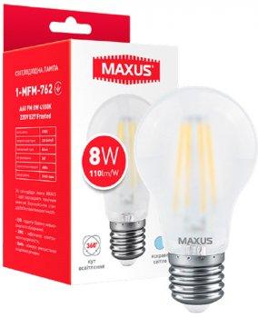 Світлодіодна лампа Maxus A60 FM 8W 4100K 220V E27 Frosted (1-MFM-762)