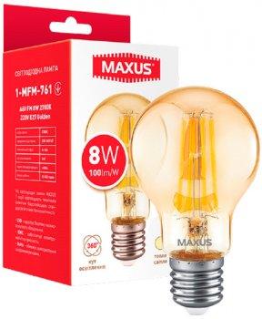 Світлодіодна лампа Maxus A60 FM 8W 2700K 220V E27 Golden (1-MFM-761)