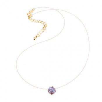 Подвеска-невидимка С камнем DiaDemaGrand Розовое золото с белым камнем (011702-22-2)
