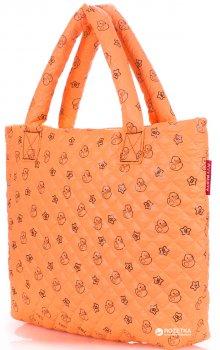Женская стеганая сумка POOLPARTY (pp1-ducks-orange)