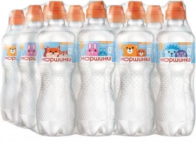 Упаковка мінеральної питної негазованої дитячої води Моршинка Спорт-кеп 0.33 л х 12 шт (4820017001625)