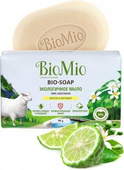 Упаковска экологического туалетного мыла BioMio Bio-soap с эфирными маслами литсея кубебы и бергамота 90 г х 3 шт (4603014012198)